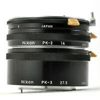NIKON PK-1,PK-2,PK-3 Extension Tube Ring Set for non-Ai Lens from Japan