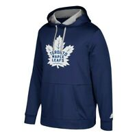 "Toronto Maple Leafs NHL Adidas Men's Navy Blue ""Checking"" Team Applique Hoodie"