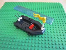 Lego Dingy / Raft / Rowing Boat Rigid Inflatable Craft / ship with Flag - BLACK