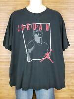 Air Jordan Jumpman Black Graphic Short Sleeve T-Shirt Mens Size 2XL