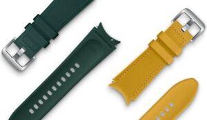 Genuine Samsung Galaxy Watch4 Series Hybrid Leather Band 20mm M/L Strap ET-SHR89