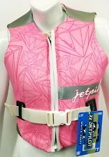 $125 Womens Jet Pilot by Body Glove LUXE Comp Vest Water Ski Jacket Ladies Pink