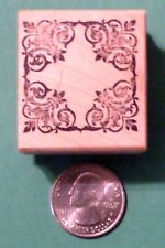 Mirror Vine Frame Rubber Stamp, wood mounted