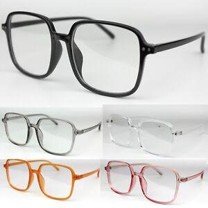 Large Square Clear Lens Fashion Glasses Women's Mens Vintage Geek Party