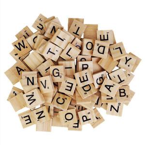 100pcs Wooden Alphabet A Numbers Tiles For Children Puzzle Toys & Craft Symbol
