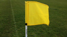 Set of four OTTOPT foldable YELLOW corner flags with posts, spike and carry bag