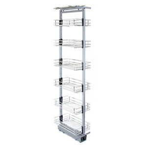Larder Pull Out Wire Basket Kitchen Cabinet Cupboard SOFT CLOSE Various Sizes