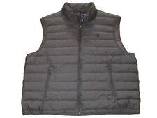 Polo Ralph Lauren Gray Black 4XLT Big and Tall Down Puffer Vest Coat Jacket