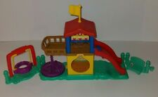 Fisher Price Little People Playground Fun Sounds 2003 Slide And Tire Swing