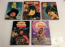 Dr Who Annuals Lot: 1976, 1977, 1978, 1980, 1981