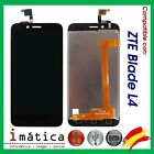 Screen LCD For ZTE Blade L4 A460 Black Display Full Image Touch
