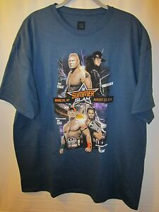 2015 OFFICIAL SUMMERSLAM EVENT T-SHIRT AUTHENTIC AND OFFICIAL BRAND NEW SIZE L