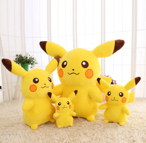 10-65cm Smile Pikachu Animal Dolls Plush Toys Kawaii Cartoon Soft Big Kids Girls