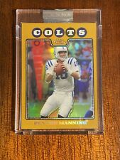 2008 Topps Chrome Peyton Manning Uncirculated Gold /199