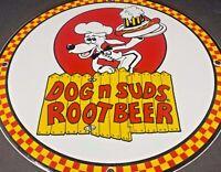 """VINTAGE DOG N SUDS ROOT BEER PORCELAIN SIGN 12""""   DINER RESTAURANT GASOLINE OIL"""