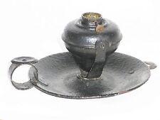 06B16 ANCIENNE LAMPE A MAIN PÉTROLE / HUILE RAT DE CAVE EN TOLE XIX e