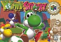 Yoshi's Story Nintendo 64 N64 Video Game Authentic Retro Kids Super Fun Mario