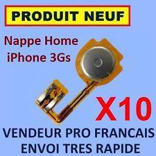 ✖ LOT DE 10 NAPPES INTERNE BOUTON HOME IPHONE 3GS ✖ FLEX ✖NEUF GARANTI ENVOI 24H