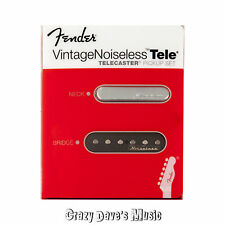 Fender Vintage Noiseless Telecaster Pickup Set Tele Pickups Bridge Neck NEW
