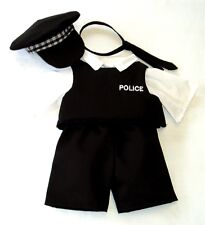 NEW BRITISH POLICE UNIFORM - FITS TEDDY BEARS 16 INCH / 40cm TALL – MADE IN UK