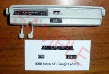 1966 Chevrolet Nova Ss Gauge Faces for 1/25 scale Amt Kits