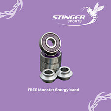 4 x Abec 7 STINGER bearings and spacers. Scooters and skateboards ** New to UK**