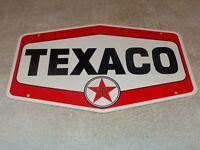 "VINTAGE TEXACO GASOLINE 11 3/4"" PORCELAIN METAL OIL PUMP PLATE ADVERTISING SIGN!"