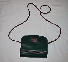 Liz Claiborne Vintage Green Shoulder Purse Messenger/Cross Body Bag (Small)