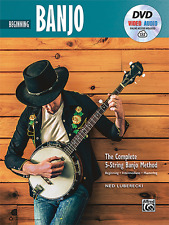 """BEGINNING BANJO"" THE COMPLETE 5-STRING BANJO METHOD MUSIC BOOK/DVD-NEW ON SALE!"