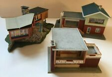 FALLER HO GAUGE THREE MODERN HOUSES READY MADE FOR RAILWAY BUILDING  DIORAMA