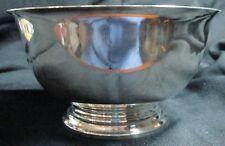 Gorham Signed Sterling Silver Bowl 342.1 Gram Reproduction Of Revere