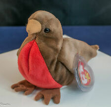 """TY Beanie Baby """"Early"""" Red Breasted Robbin DOB 3/20/97 TAG ERROR 1998 New Retire"""