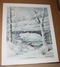 The Old Rock House Ky Artist Fred Thrasher Natural Bridge Wildlife Winter Snow