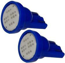 2x ampoule T10 W5W 12V LED COB 2W bleu veilleuses éclairage intérieur plaque