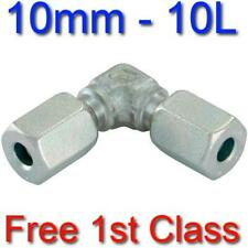 10L EQUAL ELBOW HYDRAULIC COMPRESSION FITTING/COUPLING TUBE PIPE JOINER 10mm