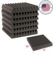 "Acoustic Wedge Studio Soundproofing Foam 12""x12""x2"" Charcoal 6-Teeth (96 Pack)"