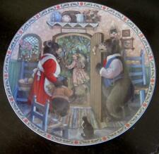 """1989 Edwin Knowles Goldilocks and the Three Bears 8.5"""" Collector Plate"""