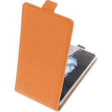 Funda para Alcatel Flash Plus 2 protectora Teléfono Móvil con tapa naranja