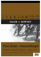 Daler Rowney : Fine Grain : Heavyweight Cartridge Pad : 200gsm : 30 Sheets : A3