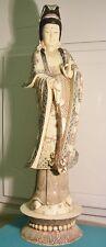 OLD Vintage KUAN YIN Statue made of domesticated Water Buffalo bone -- Kwan Quan