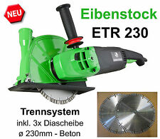 Eibenstock trennsystem ETR 230 steintrennsäge scie diamant GaLaBau TUILE EN LOT