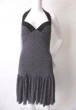 RAZAK Made In Australia Size 8 - 10 US 4 - 6 Black and White Halter Neck Dress