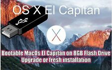 USB 2.0 pendrive 8GB  Apple Mac OS X El Capitan10.11 INSTALAR SISTEMA OPERATIVO