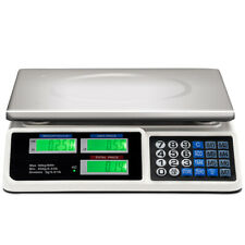 66lbs Digital Weight Scale Price Computing Retail Count Scale Food Meat Scales