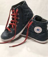 Converse Chuck Taylor All Star Hi Nightime Navy Quilted 650681C Junior Size 5 US