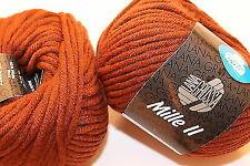 Wolle Kreativ! Lana Grossa - Mille II - Fb. 81 rotbraun 50 g