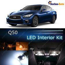 10x Xenon White LED Lights Interior Package Kit for 2014 -  2017 Infiniti Q50