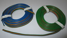 [1m = Four of a kind Wire 2x5m Blue Yellow Red-Green 2x5meter New