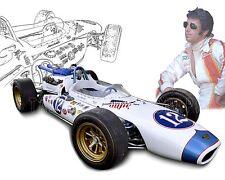 Dean Van Lines Special Indy 500 & Mario Andretti Vintage Race Car Photo CA-0589