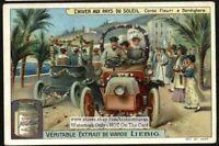 Flower Car Race Course I Bordighera Italy Corso Fleuri 1910 Trade Ad Card